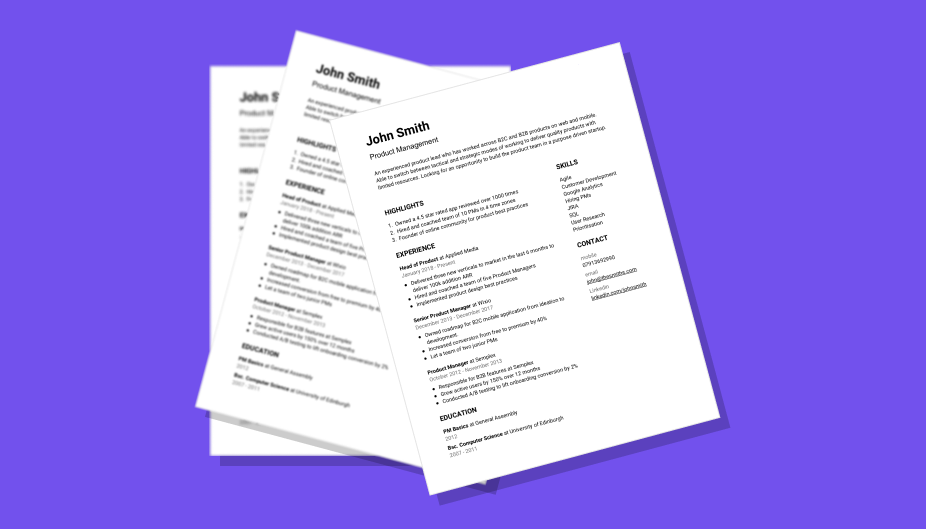 How To Write A Perfect One Page Startup Cv Free Template Included Uk Startup Jobs